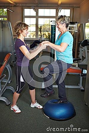 Ejercicios de equilibrio en gimnasia
