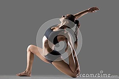 eka pada rajakapotasana ii yoga pose stock photo  image