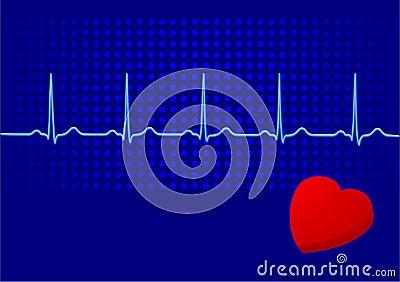 EKG blue
