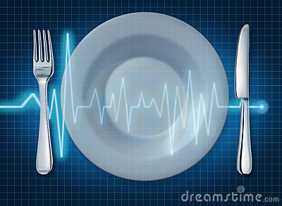EKG ECG food healthy lifestyle food plate heart he