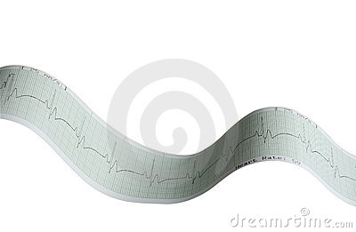 EKG Tape electrocardiograph (with clipping path)