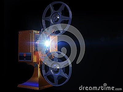 Ekranowy ruchu projektoru przedstawienie