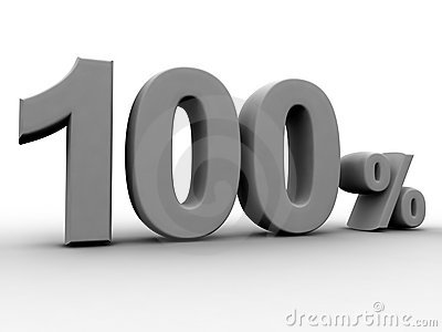 El 100 por ciento