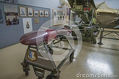 Abejón de blanco propulsado por cohetes de Nike rp-76 Imagen de archivo editorial