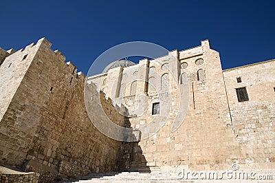 El-Aksah mosque and western wall