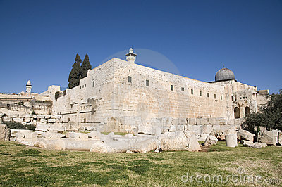 El-Aksah Mosque And Western Wall Royalty Free Stock Photography - Image: 22637867