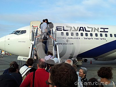 El Al Plane Editorial Stock Photo