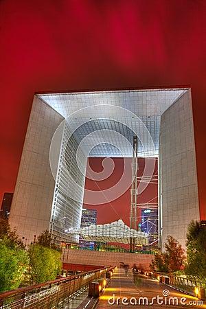 El Arche magnífico, defensa del La, París Imagen de archivo editorial