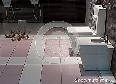 El baño, interior, adorna