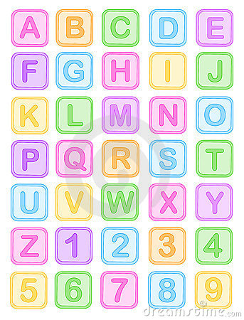 El bebé bloquea alfabeto