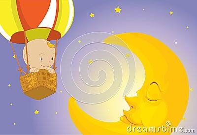 El bebé visita la luna