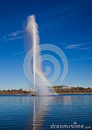 El capitán Cook Memorial Jet en Canberra