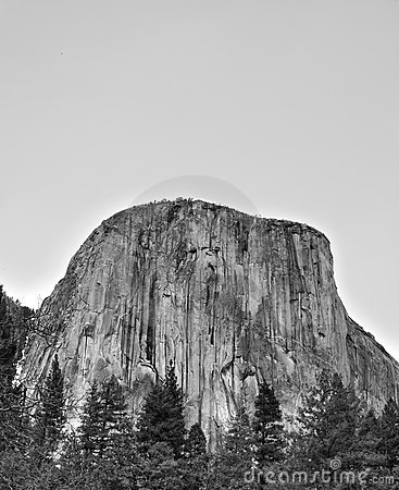 El Capitan Black White