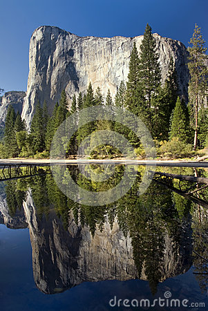 El Capitan reflected in the Merced River, Yosemite National Park, California, USA