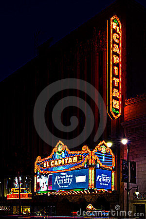 El Capitan Theater in Hollywood, California Editorial Photography