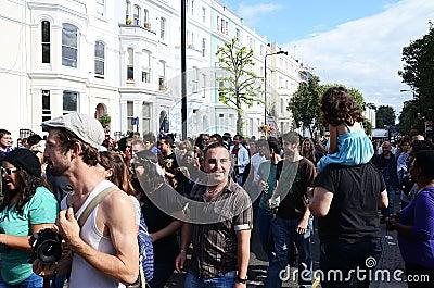 El carnaval 2011 de Notting Hill el 28 de agosto de 2011 Foto de archivo editorial