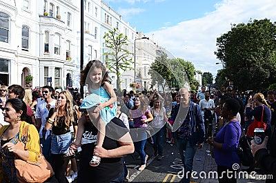 El carnaval 2011 de Notting Hill el 28 de agosto de 2011 Imagen de archivo editorial