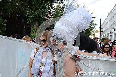 El carnaval 2011 de Notting Hill el 28 de agosto de 2011 Foto editorial