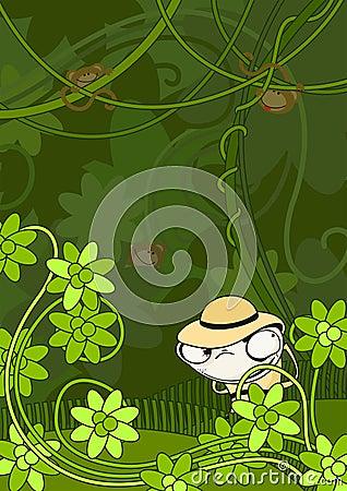 El cazador en selva
