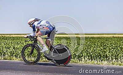 El ciclista Adam Hansen Imagen de archivo editorial