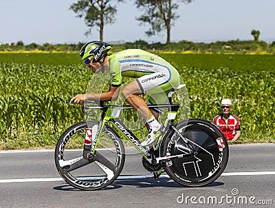 El ciclista Alan Marangoni Foto editorial