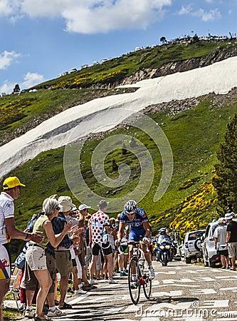 El ciclista Arnold Jeannesson Imagen editorial