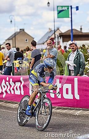 El ciclista australiano Jonathan Cantwell Fotografía editorial
