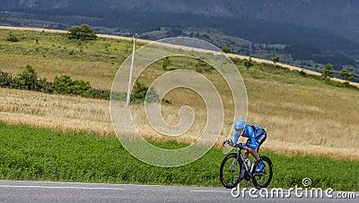 El ciclista Daniel Martin Foto de archivo editorial