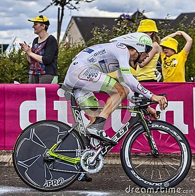 El ciclista holandés Albert Timmer Fotografía editorial