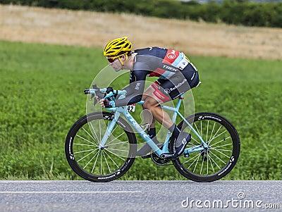 El ciclista Jan Bakelants Fotografía editorial