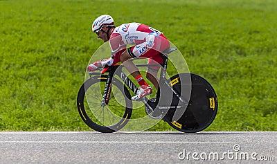 El ciclista Joaquim Rodriguez Oliver Foto de archivo editorial