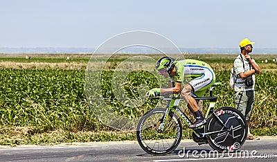 El ciclista Kristijan Koren Fotografía editorial