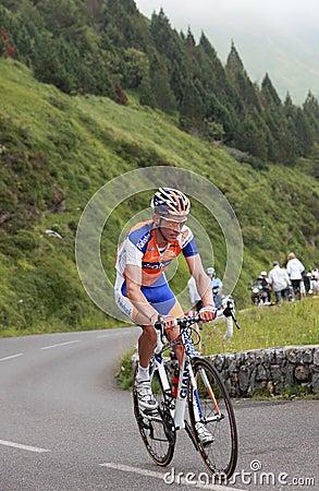 El ciclista Mollema Bauke Imagen editorial