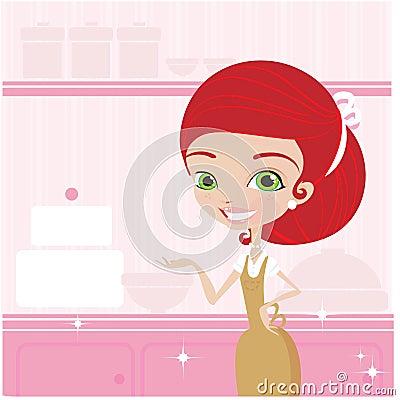 El cocinar de las mujeres jovenes