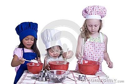 El cocinar de los niños