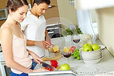 El cocinar junto