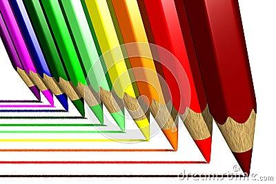 El colorante dibujó a lápiz (3D)