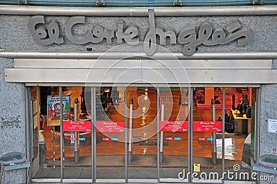 El Corte Ingles department store Editorial Image