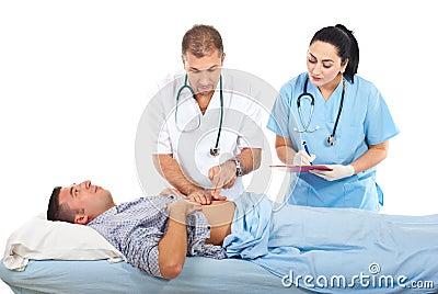 enfermeras dominantes follando con el paciente