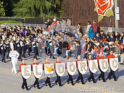 El Dorado Golden Hawks Marching Band Editorial Photography