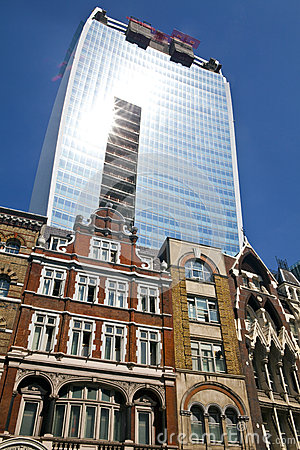 El edificio del Walkietalkie en la calle de Fenchurch Imagen editorial