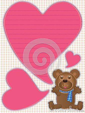 El oso de peluche dice Love_eps