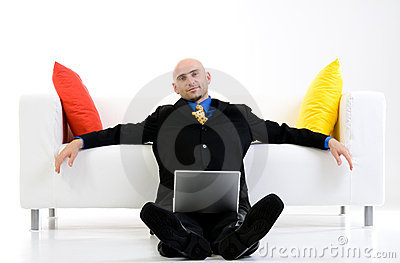 El esperar del hombre de negocios