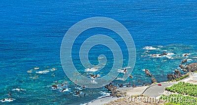El estacionar al lado del mar