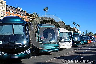 El estacionar de los omnibuses