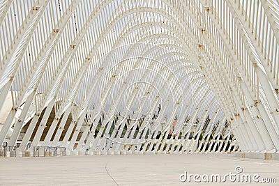 El estadio Olímpico en Atenas, Grecia Foto de archivo editorial