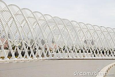 El estadio Olímpico en Atenas, Grecia Imagen editorial