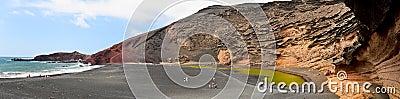 El Golfo crater, Lanzarote.