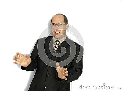 El hablar del hombre de negocios