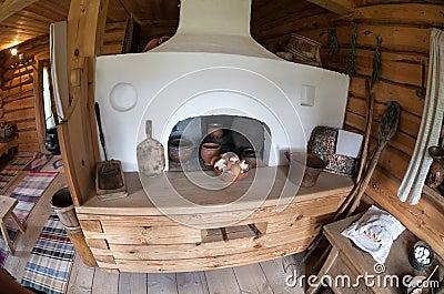 El interior del museo Suvorov Foto de archivo editorial